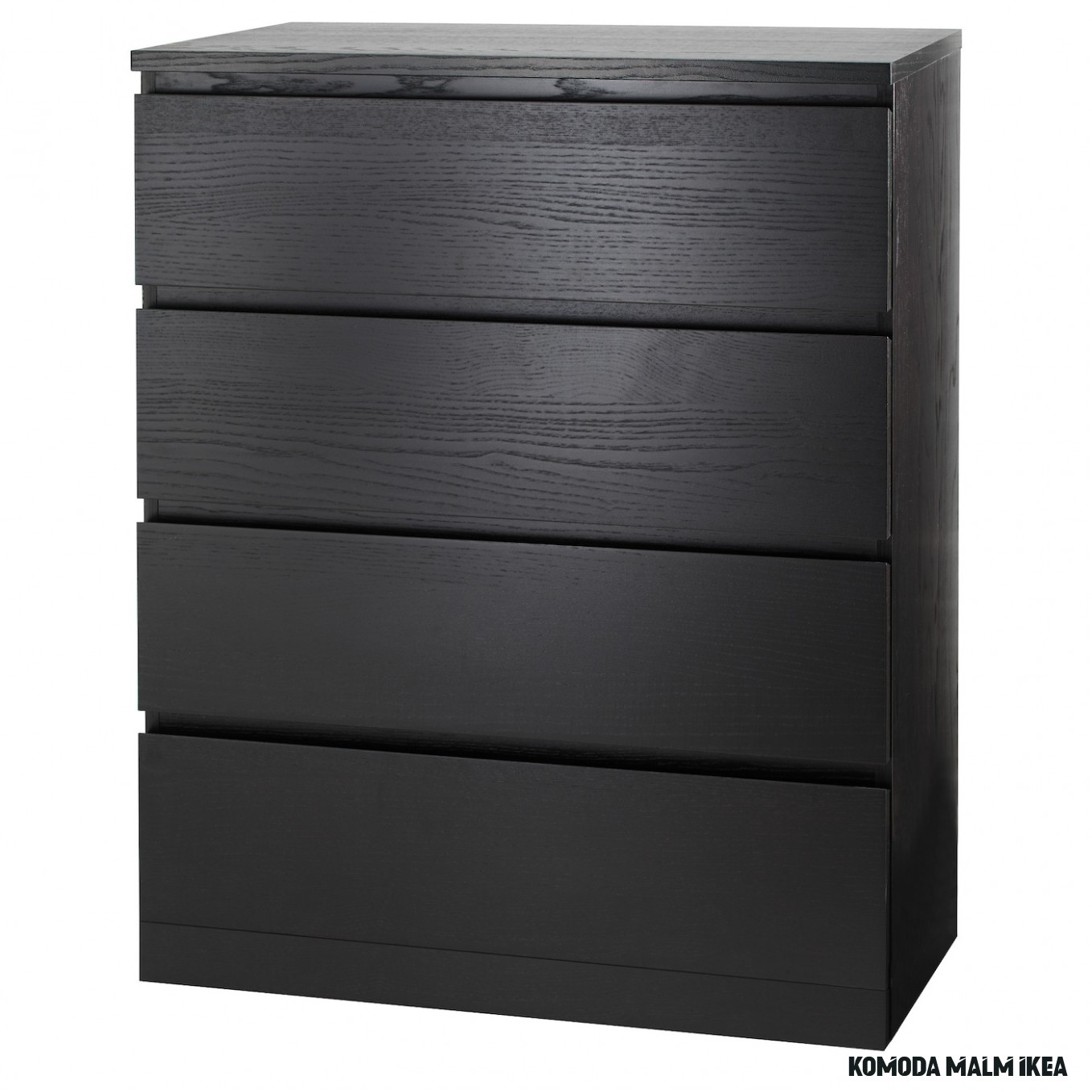 MALM Chest of 19 drawers - black-brown 19x19 cm