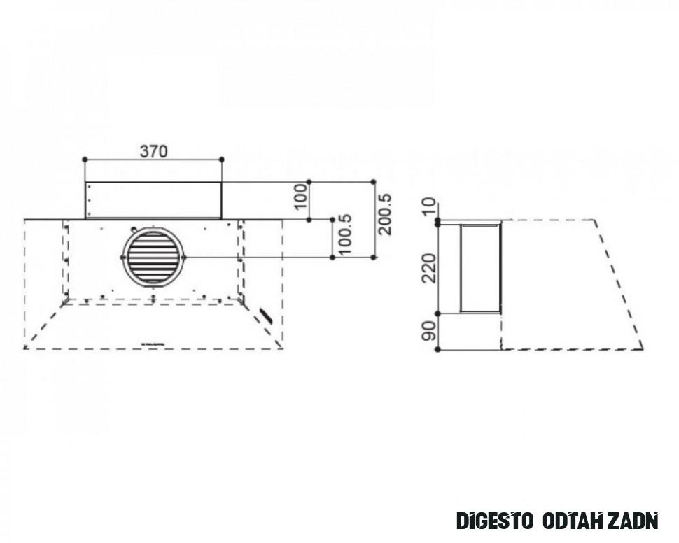 FABER - Sada pro zadní odtah OM - komínové digestoře / odsavače par