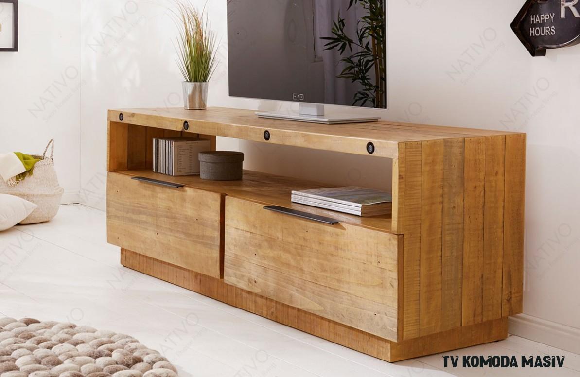Dizajnerska TV komoda FIRENCA 16cm NATIVO nameštaj od punog drveta
