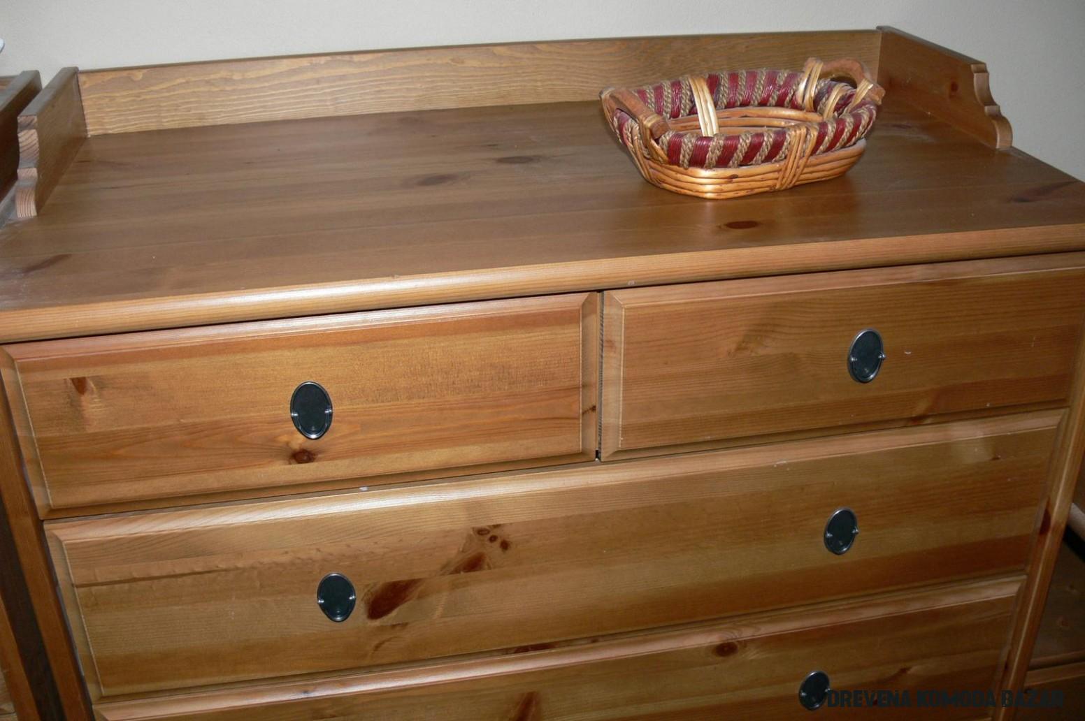 LEKSVIK komody vysoké aj prebaľovacia, drevo, Ikea - Bazár