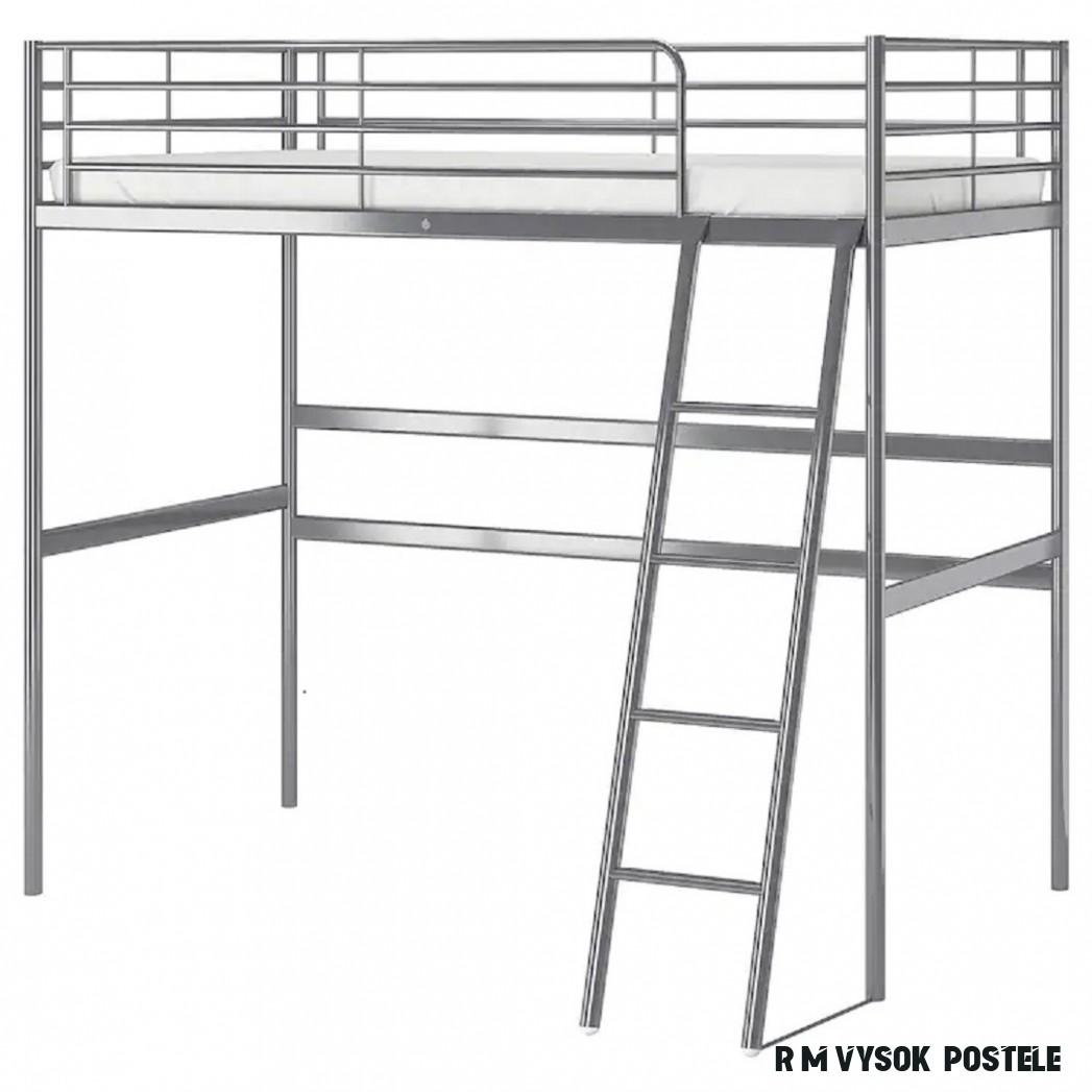 Rám vysoké postele Svärta s roštem z IKEA za 19,- - bazar
