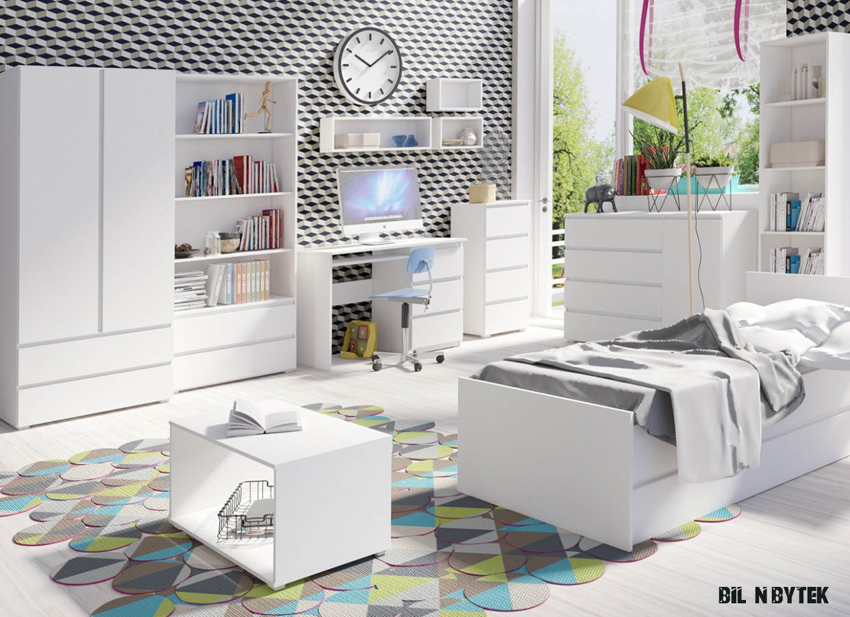 Studentské stěny : Dětský bílý nábytek COSMO 16