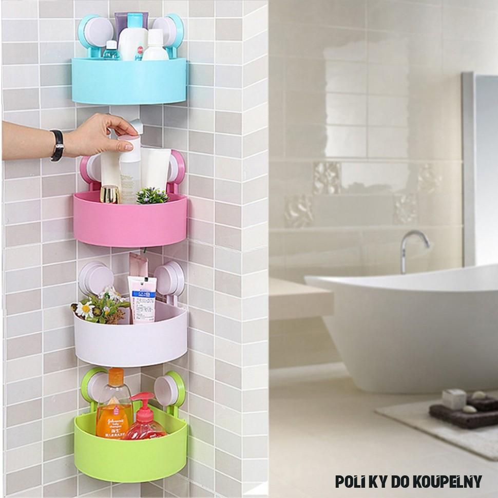 Praktické rohové poličky do koupelny nebo kuchyně