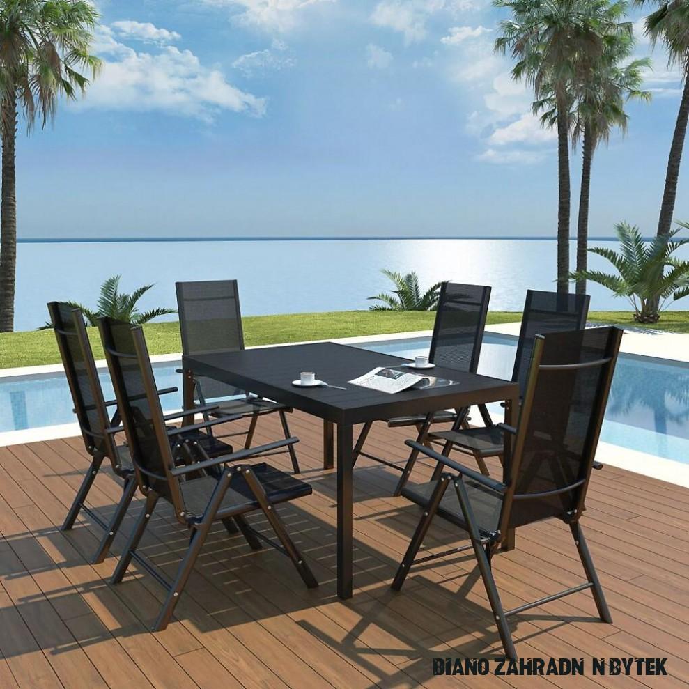 Zahradní nábytek jídelní set Windsor - 16 ks - hliník a WPC  BIANO