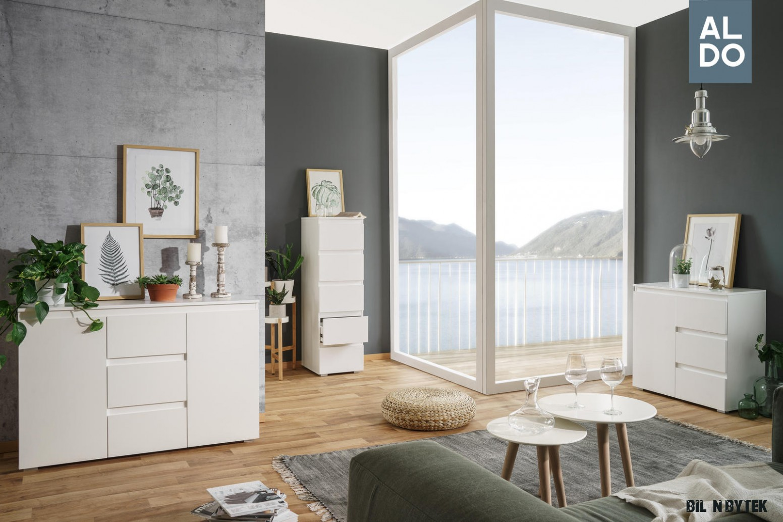 Bílý nábytek do všech interiérů - kolekce Image  Nábytek Aldo