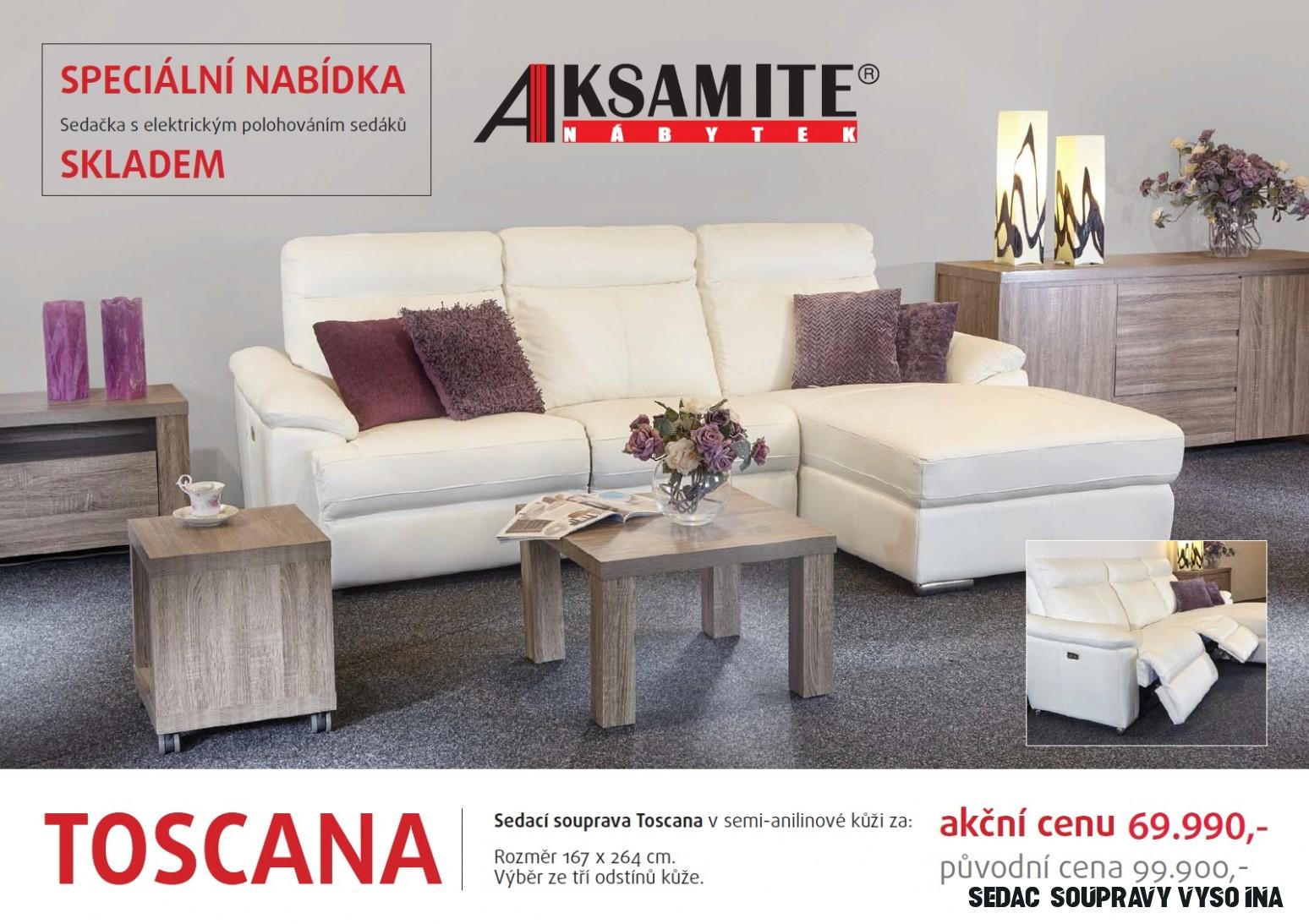 Prosincová akční nabídka - sedací souprava TOSCANA - Aksamite