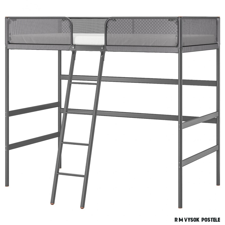 TUFFING Rám vysoké postele - tmavě šedá 19x19 cm