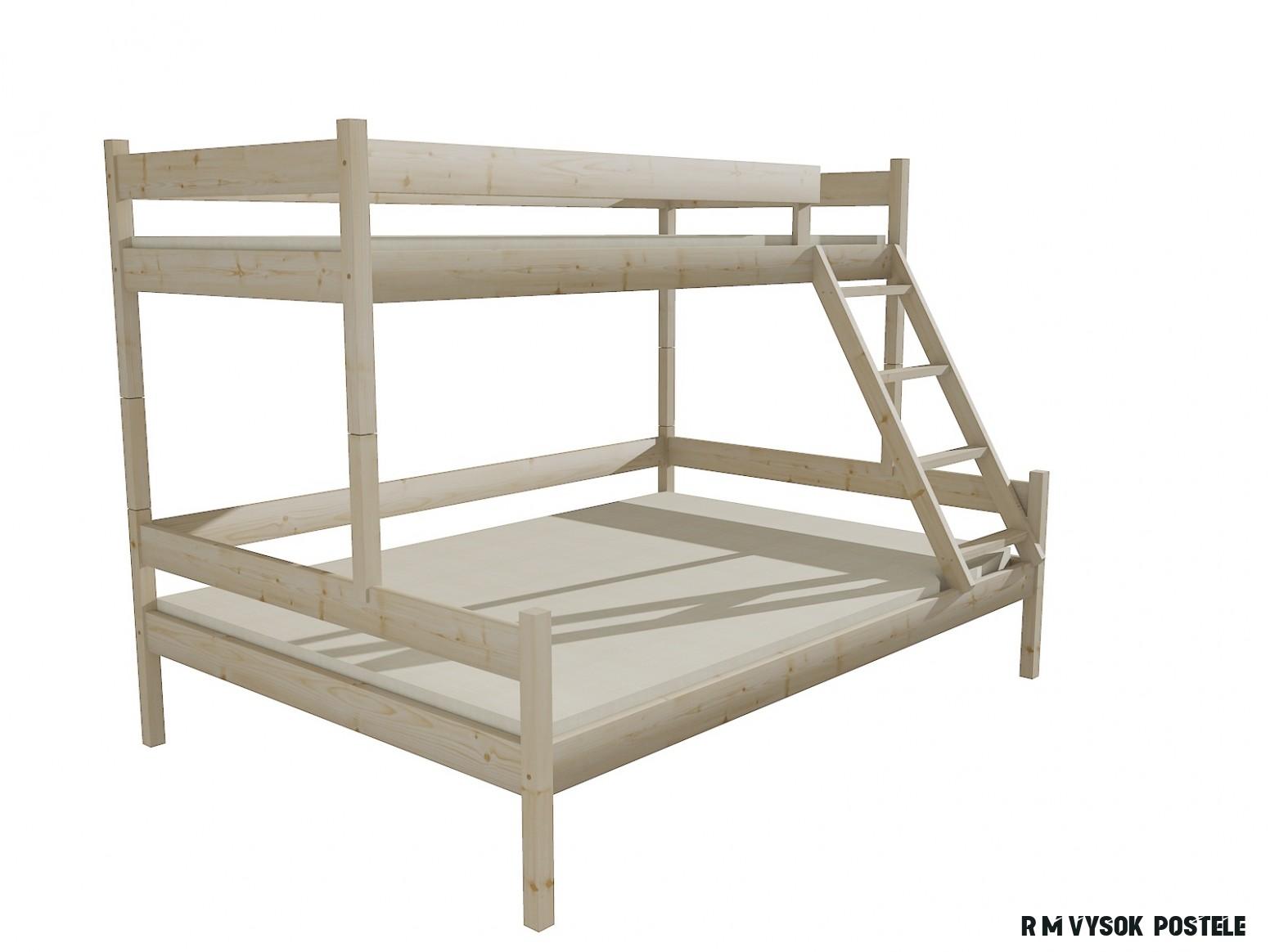 Patrová postel s rozšířeným spodním lůžkem PPS 19