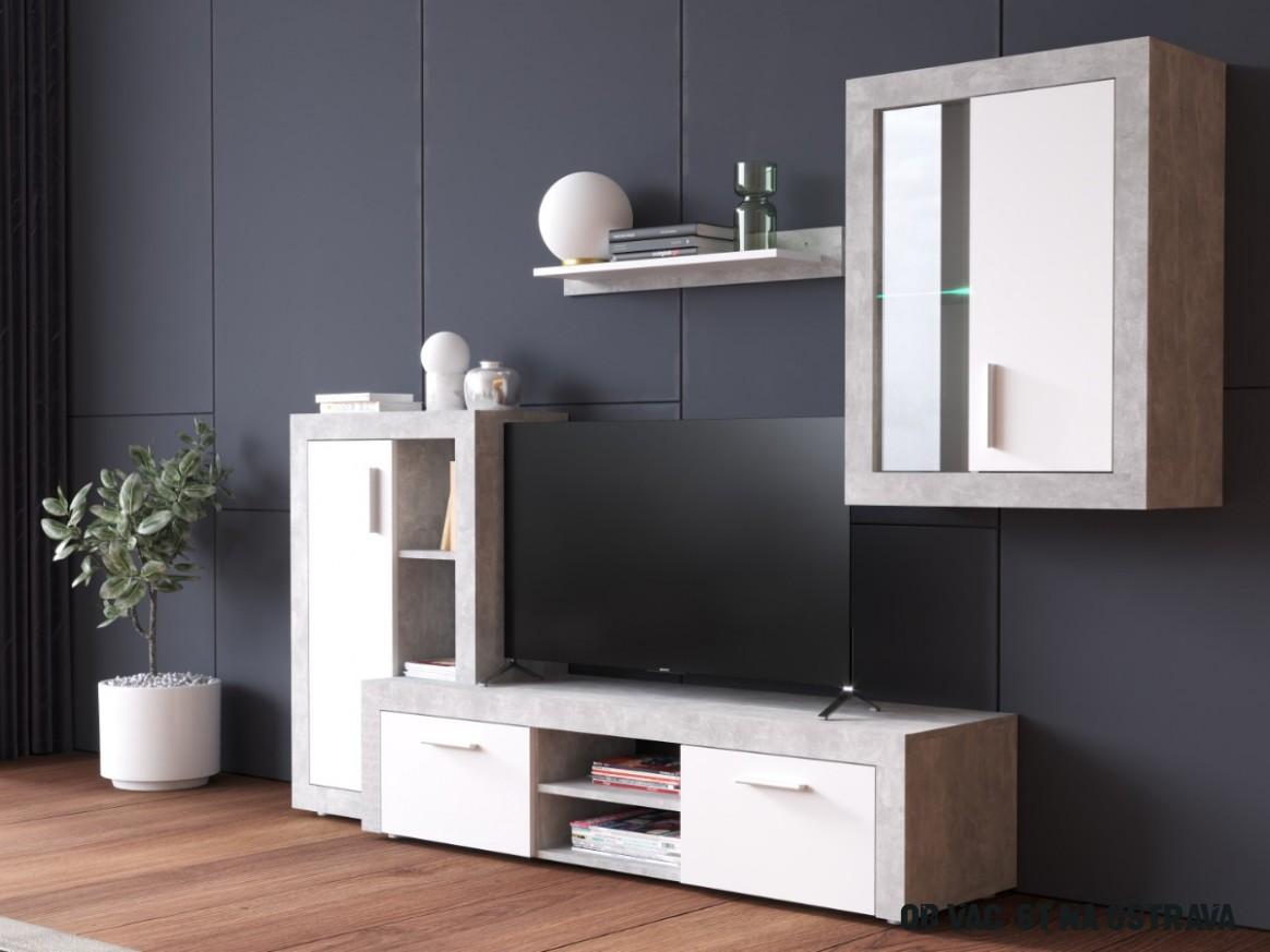 Nadčasová obývací stěna NAXOS v krásném designu - ORFA nábytek