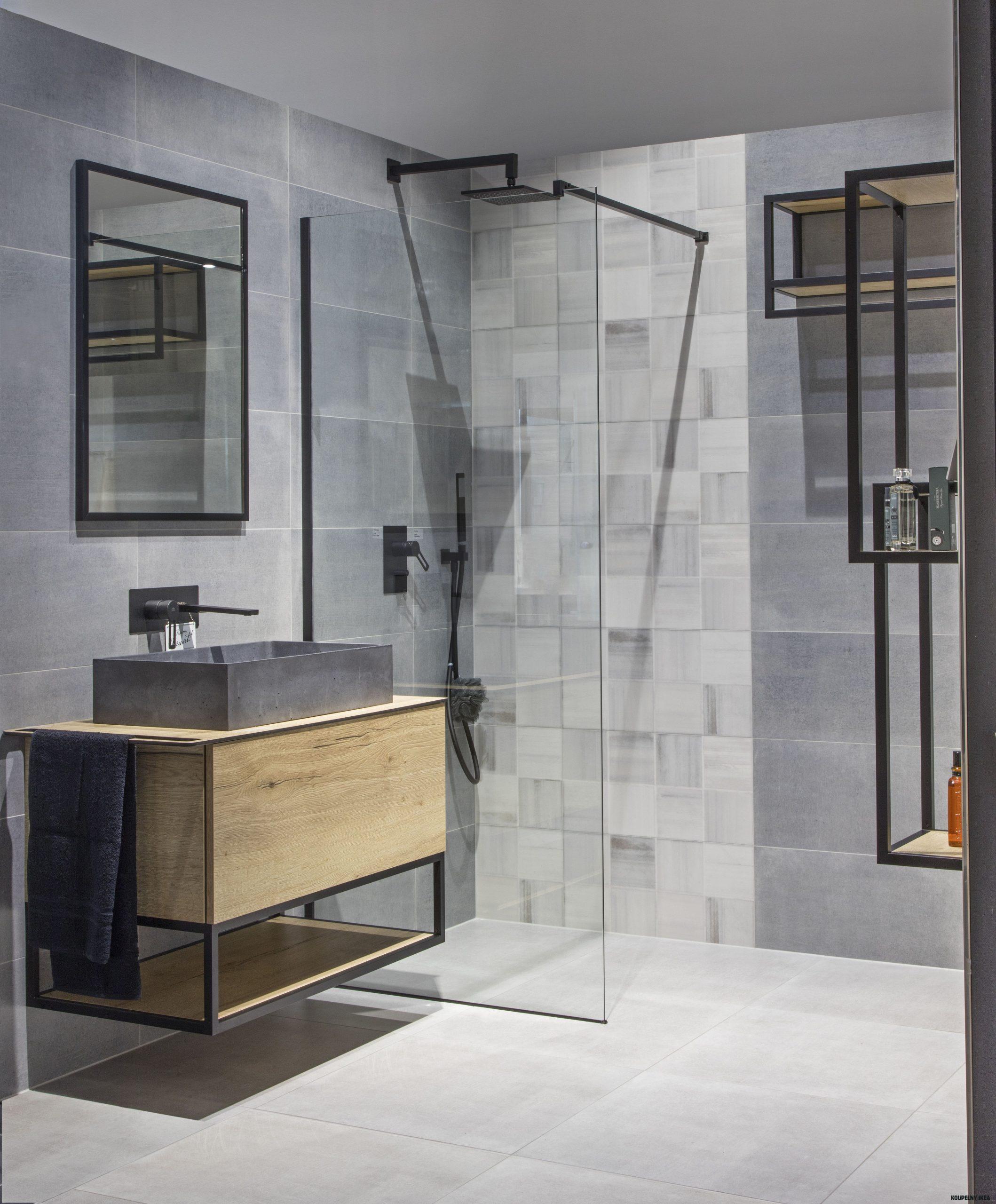 Stylové řešení Beton koupelna  SIKO KOUPELNY & KUCHYNĚ  Ikea