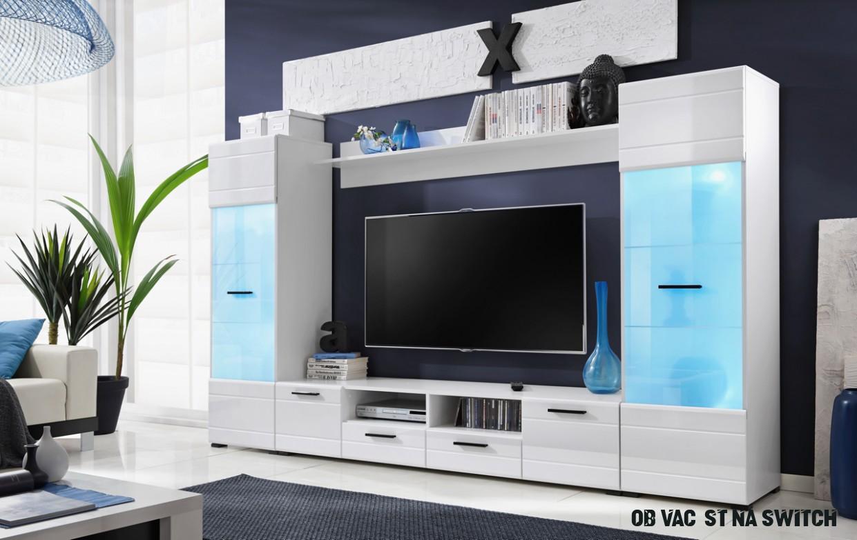 Stylová vkusná obývací stěna SWITCH /LED+dopr.19Kč!  Aukro