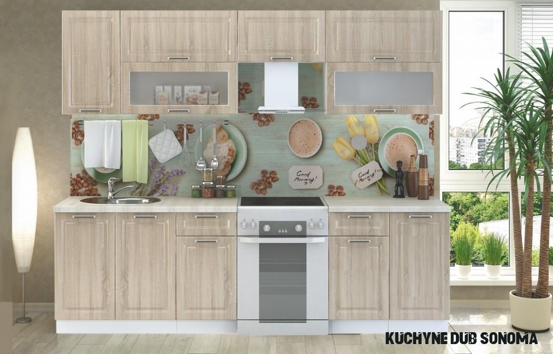 Kuchyně PRAGA 7 bílá/dub sonoma  Pěkný Nábytek