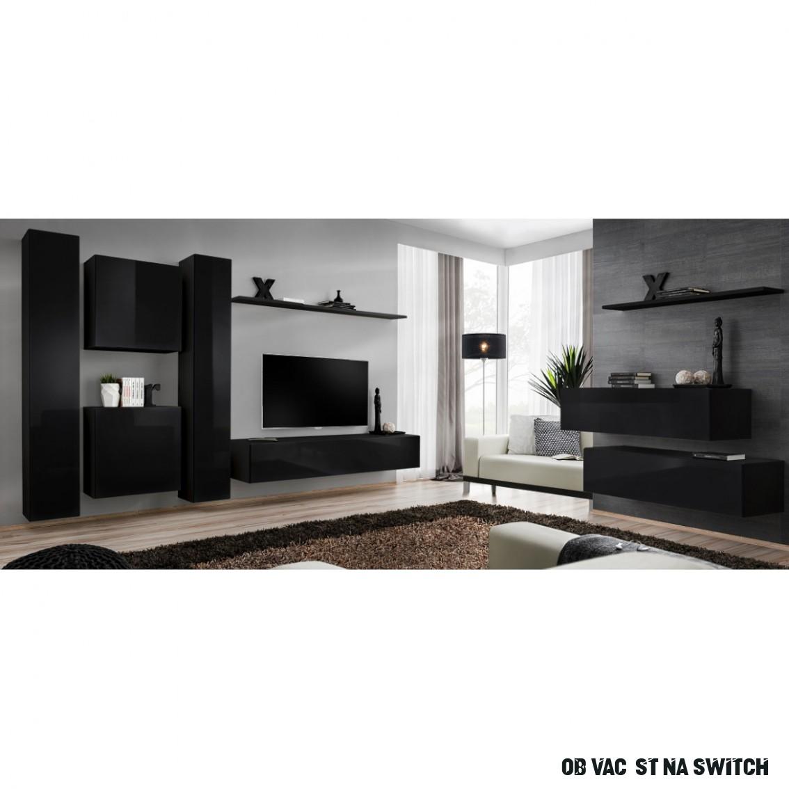 Obývací Stěna Switch VI Černá