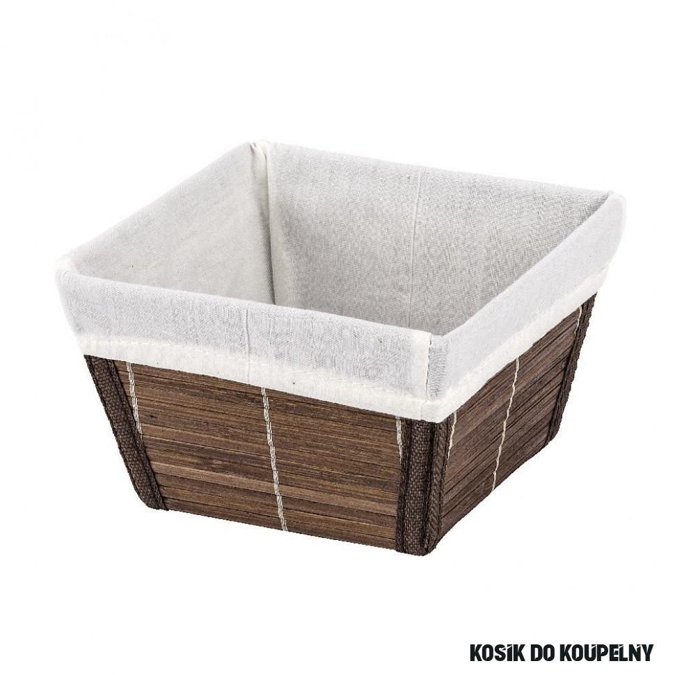 Košík do koupelny Bamboo S, hnědý  InHaus.cz