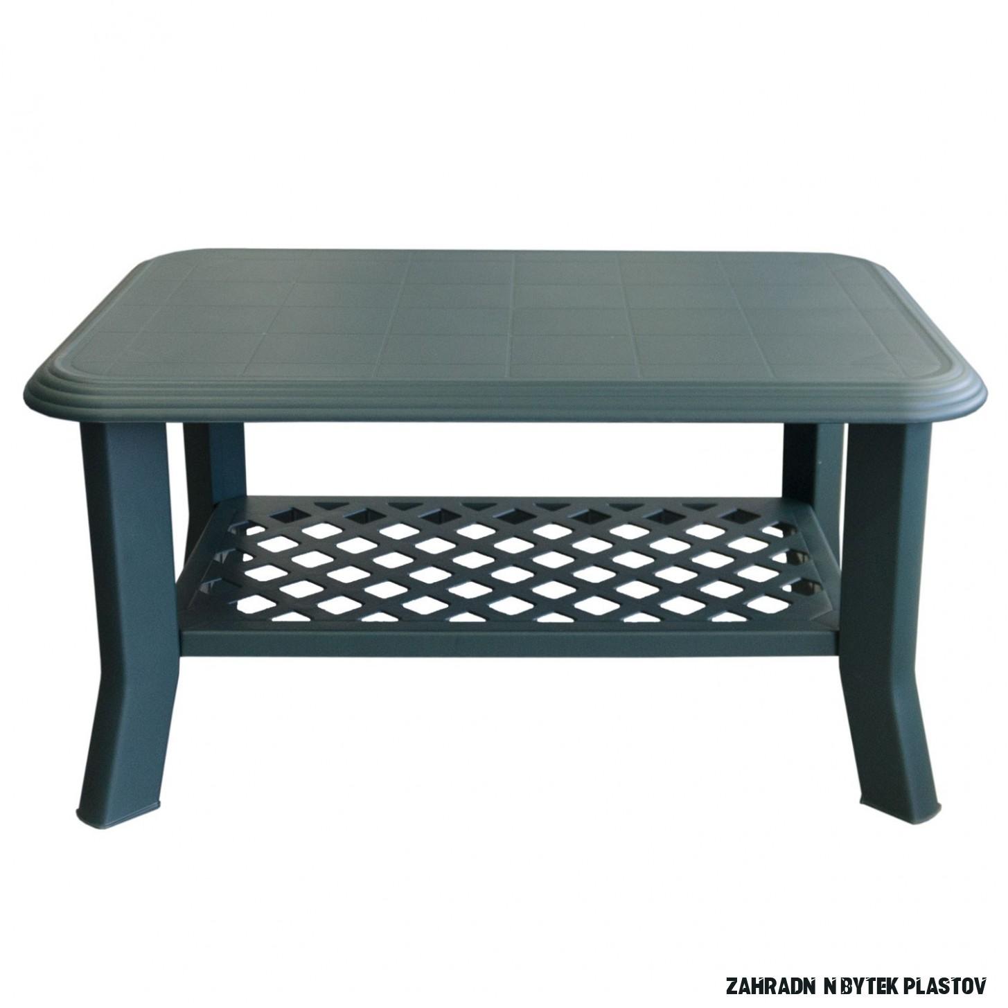 Zahradní plastový stůl NISO zelený